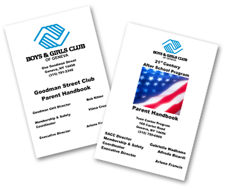 Boys & Girls Club Handbooks