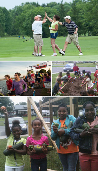 gardening, running and golfing summer activities