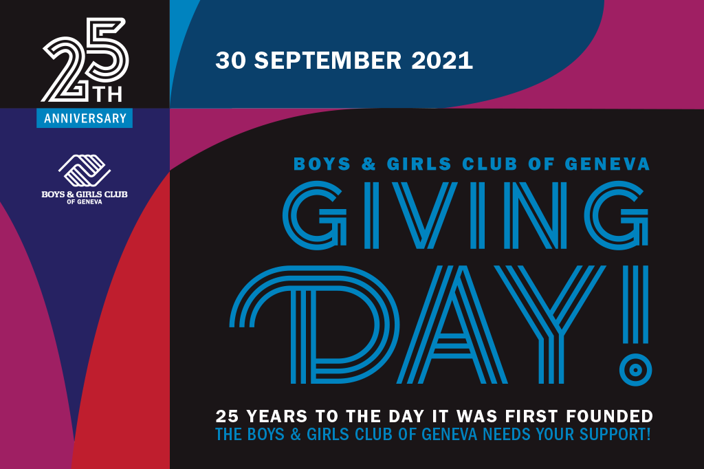 Boys & Girls Club of Geneva Giving Day! 25 years to the day it was first founded